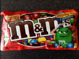 Peanut Butter m and ms...my last bag :( by noirbloome
