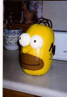 Homer Pumpkin by thepapierboy