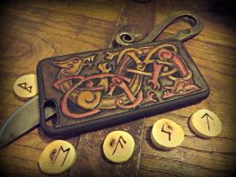 Double Wolf Knotwork Iphone 6+ Case by The-Beast-Man