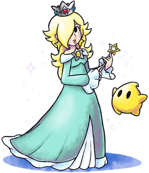 ''Mario+Luigi'' RPG Style: Rosalina (and Luma) by Master-Rainbow