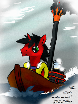 BronyCray on a boat by unitoone