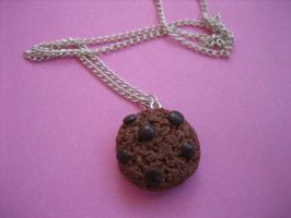 Chocolate Chip Cookie Necklace by ClayMyDay