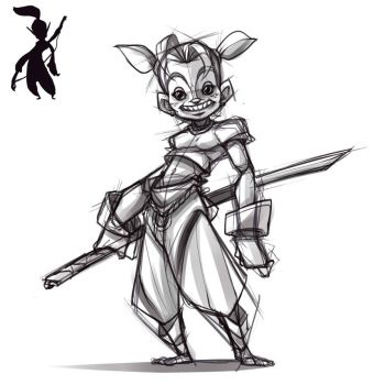 Character sketch from thumbnail by BourneLach