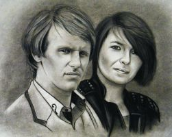 Kim And Dr Who  2 fun portrait by ADRIANSportraits