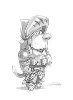 Game of Thrones Barristan Selmy (as a Dog) Sketch by Gilmec