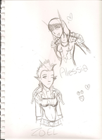 Quick sketch: Alessia and Zoel by Kaito-Fletcher