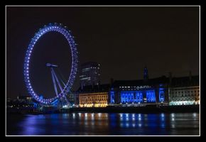 London Eye Night by AlperSargin