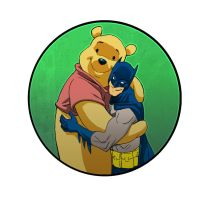 Batman and Pooh by johnsonverse
