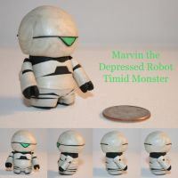 Marvin the Depressed Robot by TimidMonsters