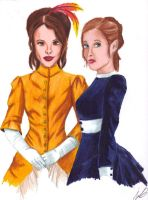 Irene Adler and Nell Huxleigh by kcjedi89