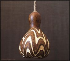 Hanging gourd lamp IV day 1 by Calabarte