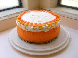 Birthday Candy Corn Cheesecake by girladrencodephoenix