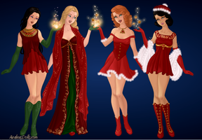 Holiday princesses by Angy995