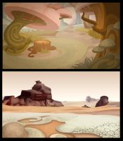 Backgrounds_desert by windmile