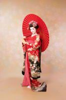 Geisha with the umbrella by Mary-cosplay