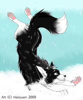 Goofing in the snow by keloka