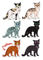 Cat Adopts 5 [0/6 CLOSED] by RibbonWren-Adopts