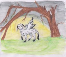 Lonely Fairy Cat -Coloured by Kif3