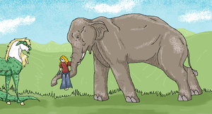 An Elephant at the Vale by Kidrylm-writer