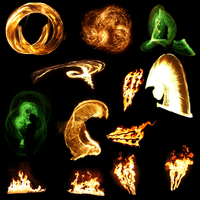 Transparent Flames Pack 2 by da-joint-stock