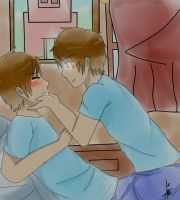 Re draw.- Steve x Herobrine. by Fionna-lahumana