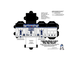 Cubee FAMILY GUY STAR WARS Cleveland as R2-D2 V2 by njr75003