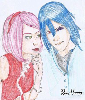 UchihaHotline - Rose and Kevin by RuuhAnna