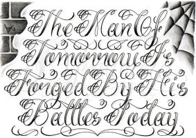 The Man Of... lettering by dfmurcia