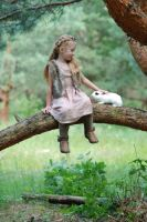 In the woods with a rabbit (10) by anastasiya-landa