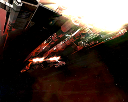 Eve - Rifter entering atmo by MoD1982