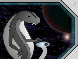 The Snake in Space by AlopexVelox