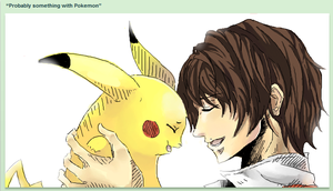 Red and Pikachu by katiepox