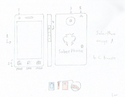 SaberPhone - concept sketch by sonicinterface
