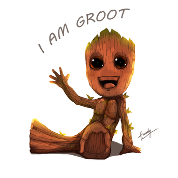 Baby Groot by faraday1463
