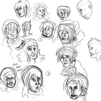 Faces by FeatheredSoap