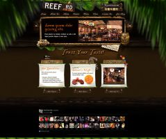 Web Design: Reef Road Restaurant by VictoryDesign