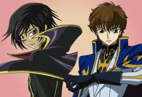 Lelouch and Suzaku by AsherothTheDestroyer