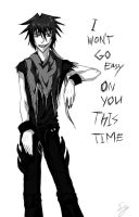 I won't go easy on you.. by KuroKohaku
