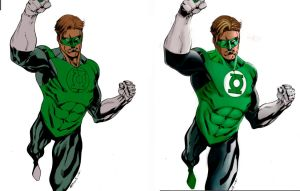 Greenlantern Digitalpainting Basecolor Oplayer by FlatsNColors