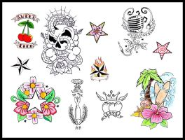 tattoo flash 2 by reindas
