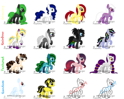 MLP Adoptable Batch - [3/16] by M00nlightMagic