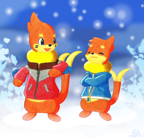Winter Bros by BuizelCream