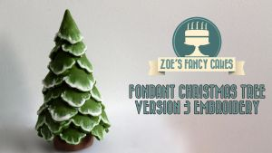 Fondant Christmas Tree Version 3 Embroidery by zoesfancycakes