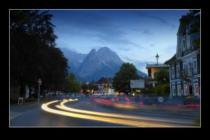 Garmisch at Night by Basement127