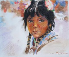 American Indian Girl by HCui