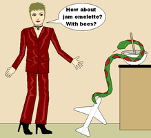 Izzard + Snake Cookery by tomatorama