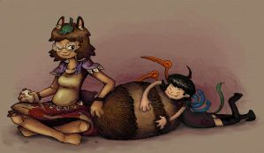 mamizou and nue by pickychicken