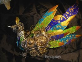 Imperial Peacock Brooch by SpiffsHexapodS