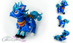 Breeze - blue hippogriff - clay sculpture by CalicoGriffin