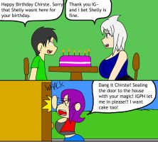 Happy Birthday Chirste (little comic strip) by IGPHHangout